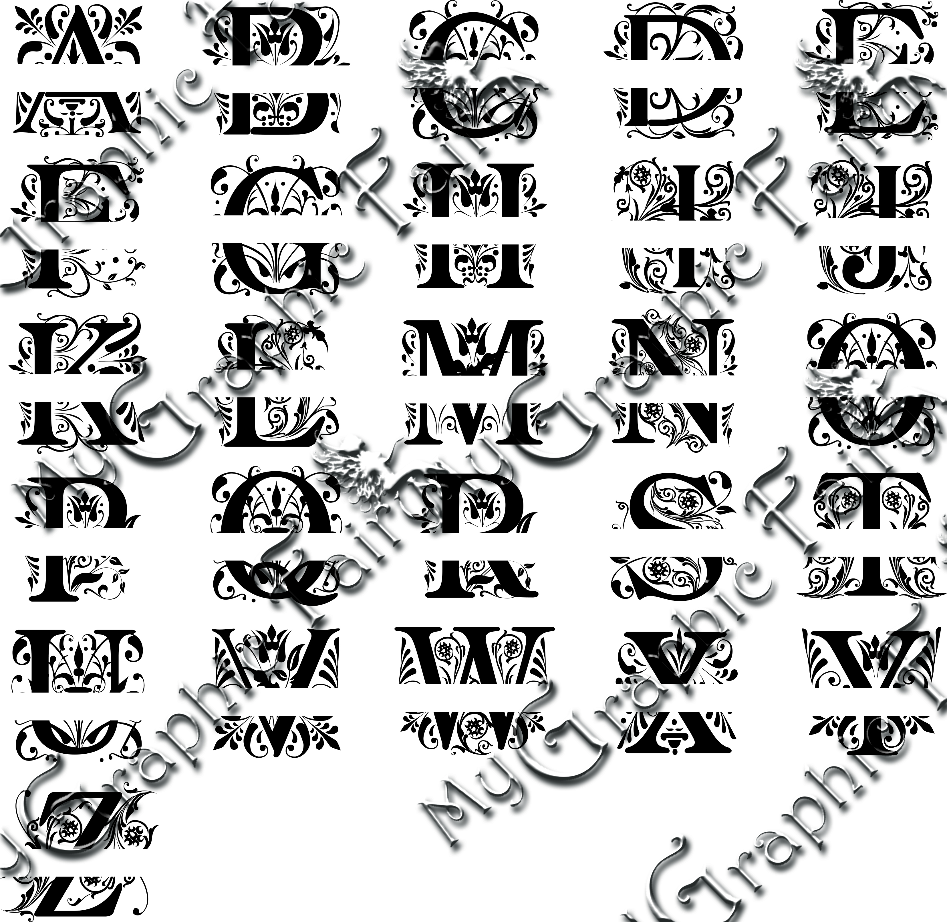 Regal Font Split Monogram Svg My Graphic Fairy