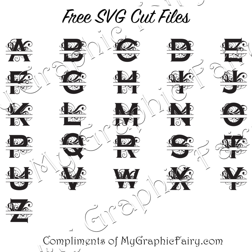 Download Abstract Split Letter SVG Cut Files - My Graphic Fairy
